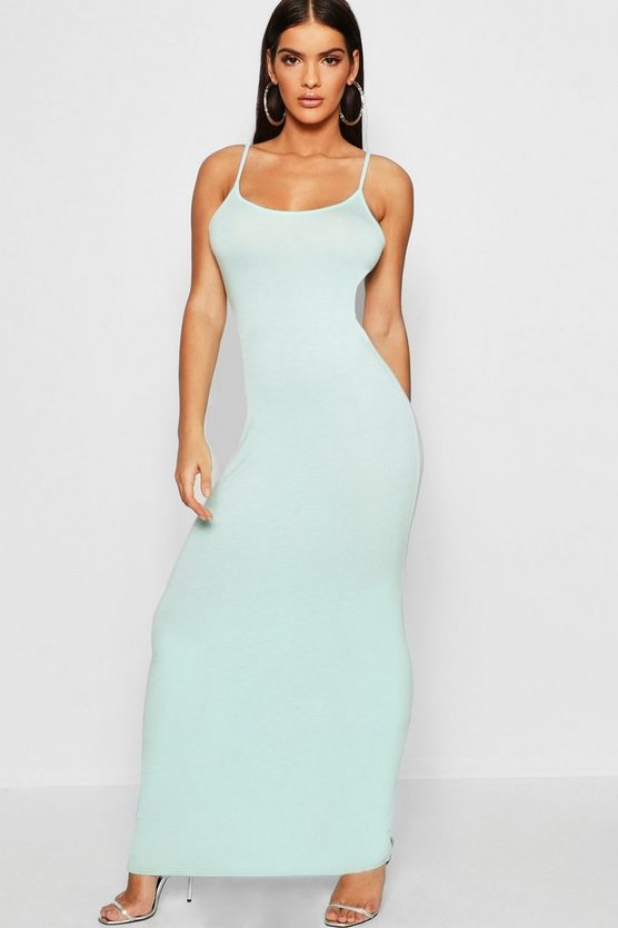 Womens Mint Strappy Maxi Dress