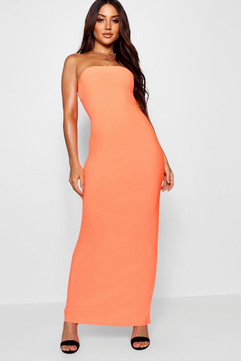 e93528b53a3 Neon Bandeau Maxi Dress