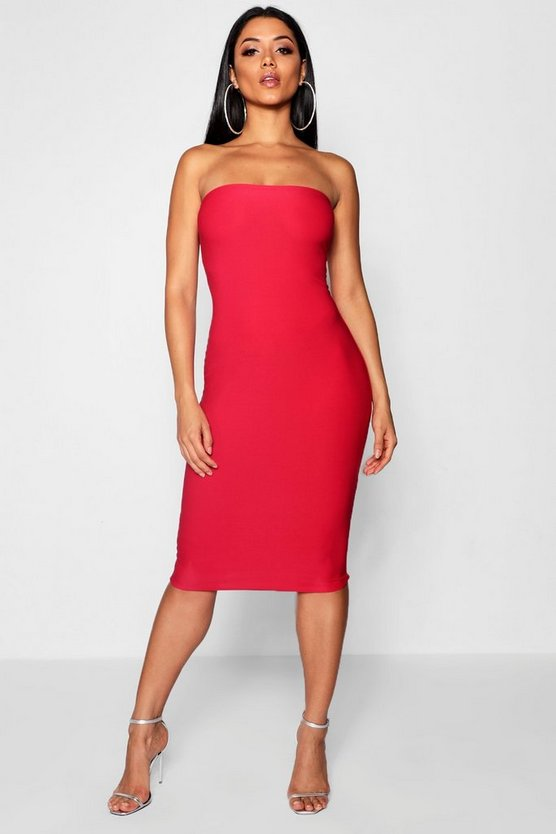 Crepe Bandeau Mini Dress by Boohoo