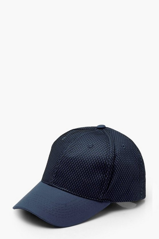 Womens Navy Netted Mesh Cap
