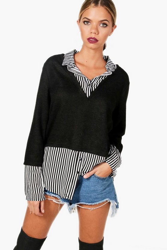 Zoey Stripe 2 In 1 Jumper