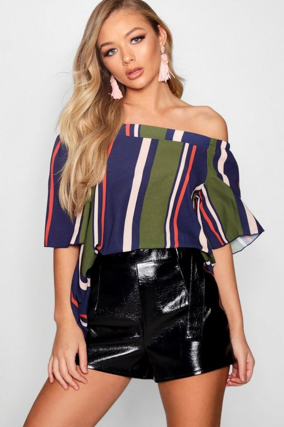 Hollie Stripe Off The Shoulder Top