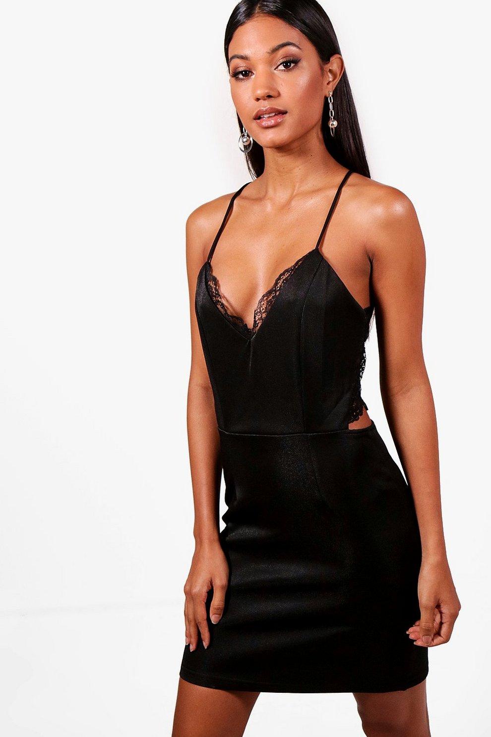 7dad2e2f Lace Back Bodycon Dress | Boohoo