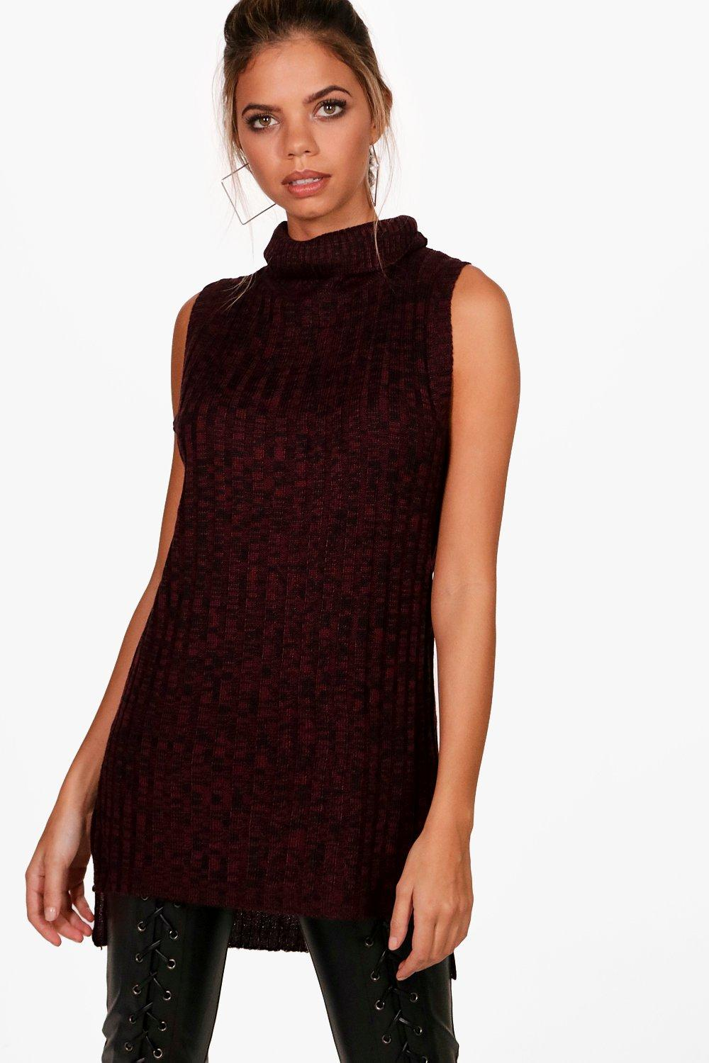 c9595c936d5e8 Lily Chunky Cowl Neck Sleeveless Top. Hover to zoom