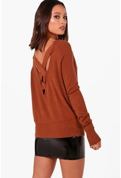 Womens Brick Bat Wing Jumper