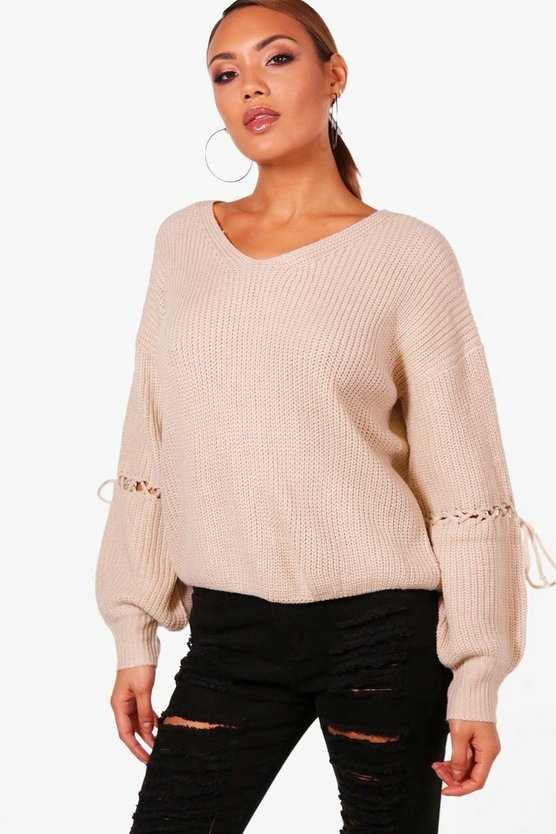 Ria Tie Sleeve Detail Jumper