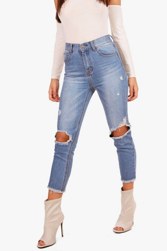 Holly High Rise Distressed Slim Fit Jeans