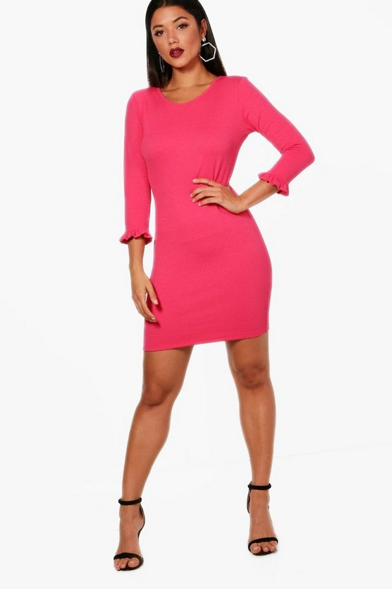 Frill Cuff Bodycon Dress