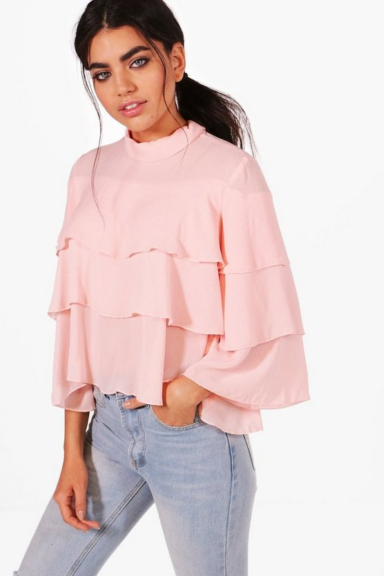 Poppy Tiered Ruffle Blouse