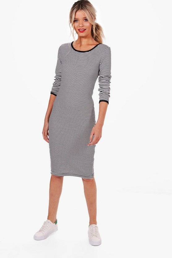 Katie Long Sleeve Jumper Midi Dress
