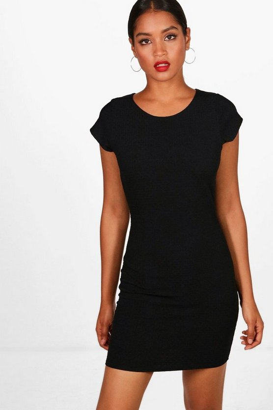 Daniella Jaquard Cap Sleeve Bodycon Dress
