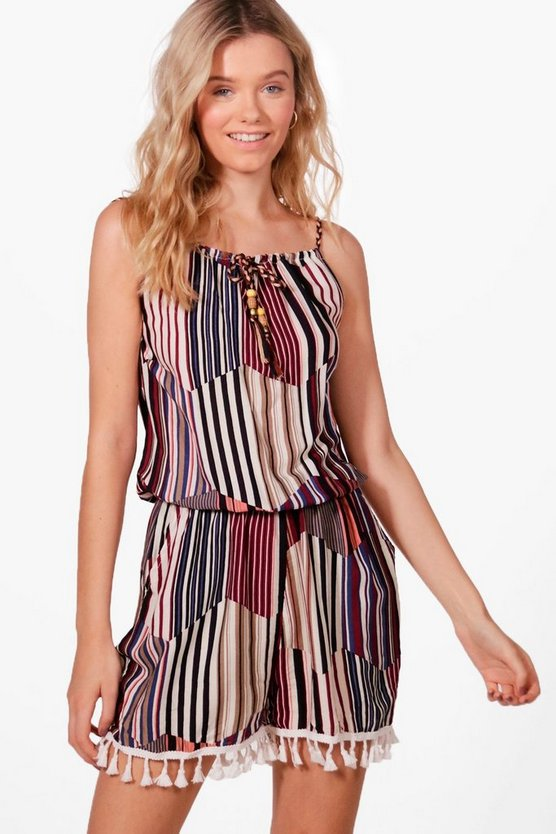 Gestreifter Playsuit
