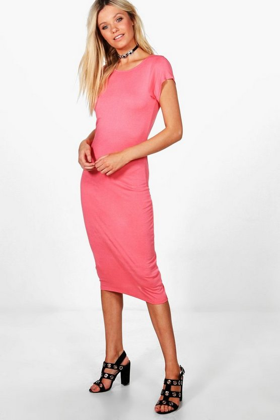 Emma Cap Sleeve Midi Dress