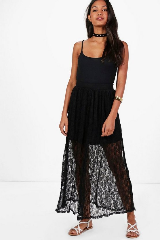 Leah Lace Maxi Skirt