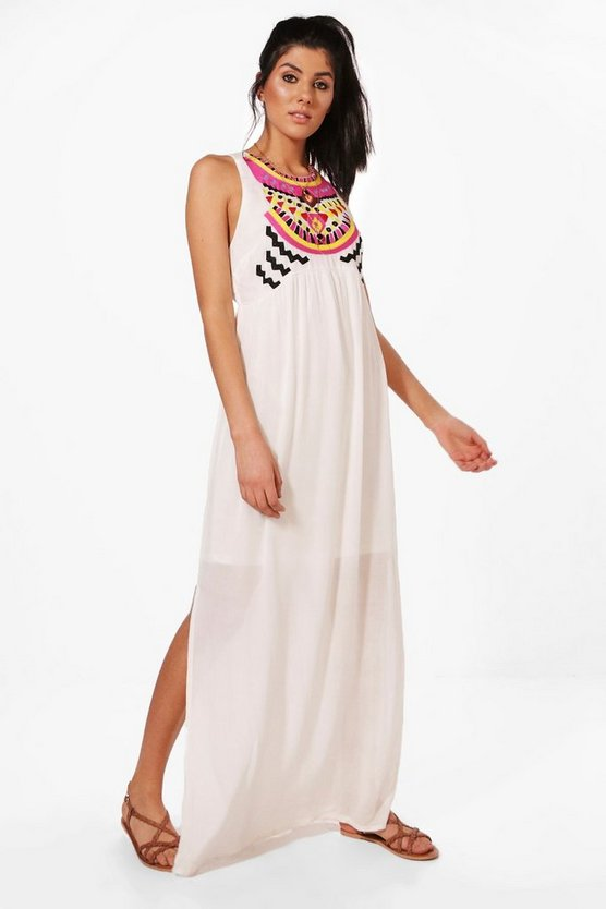 Alli Embroidered Maxi Dress