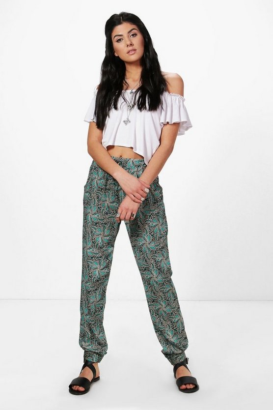 Monica Paisley Print Trousers