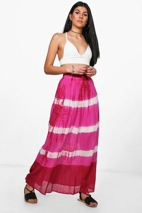 Holly Woven Tie Dye Maxi Skirt