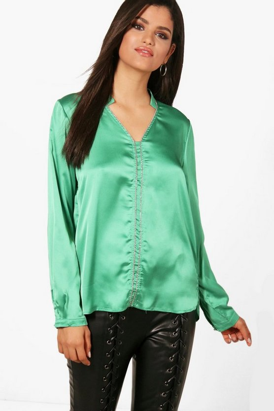 Embellished Panel Shirt