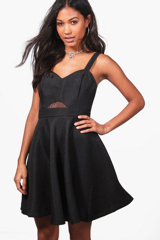 Black Aisha Strappy Prom Dress