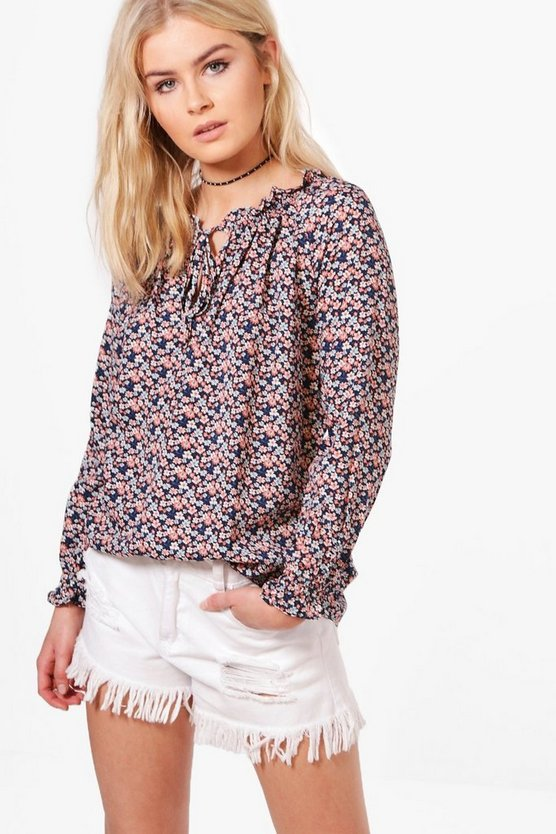 Zoe Printed Blouse