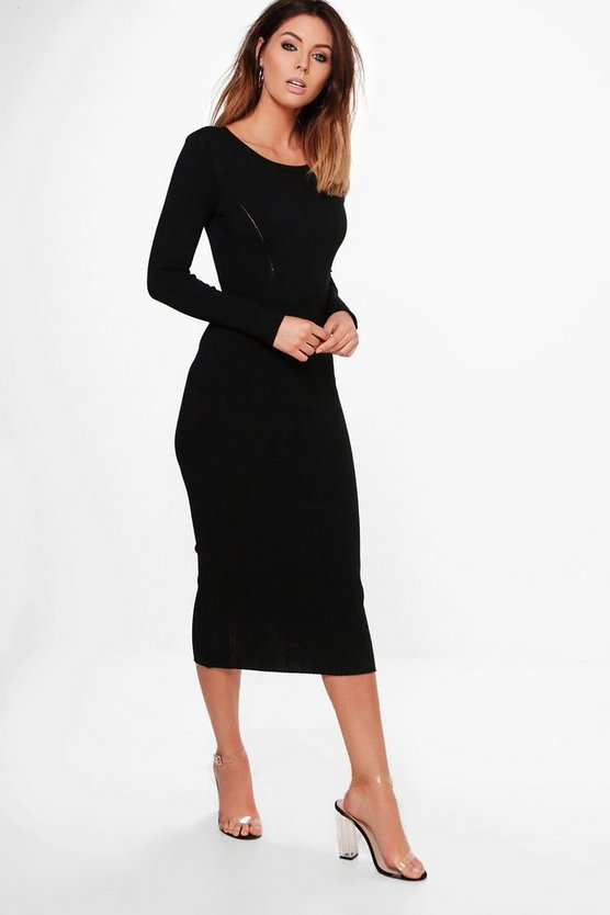 Isobel Round Neck Midi Dress