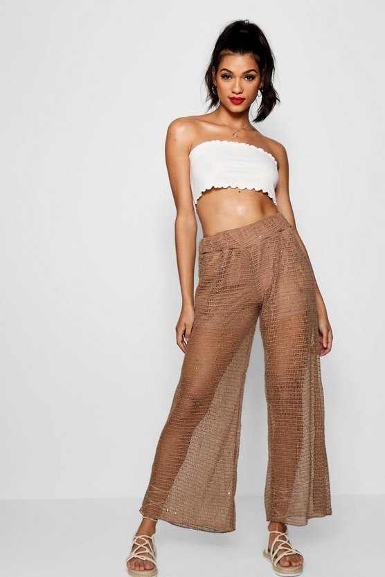Emma Sheer Lace Trousers