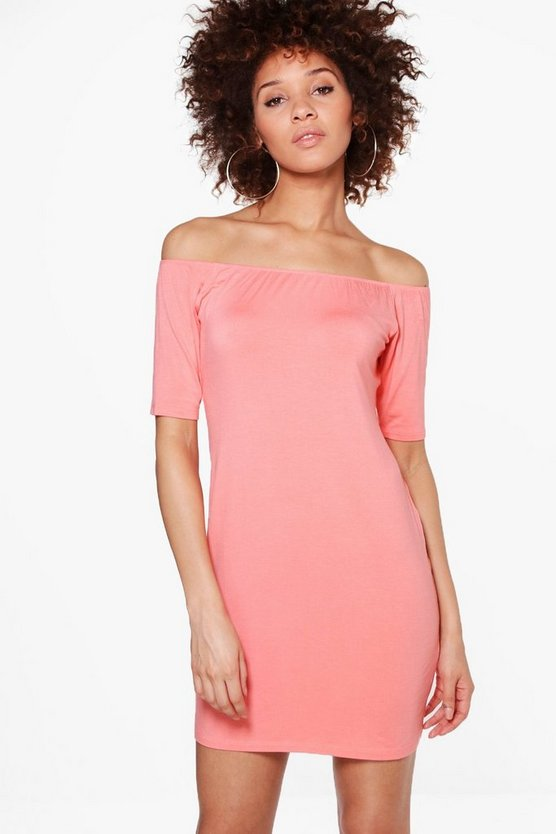 Eliana Off Shoulder Bodycon Dress