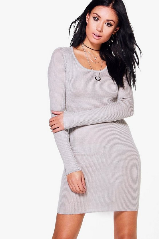 Eloise Rib Knitted Bodycon Dress