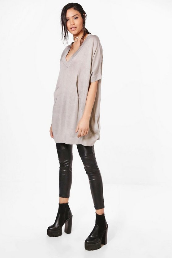 Elise Oversized V-Neck Jumper
