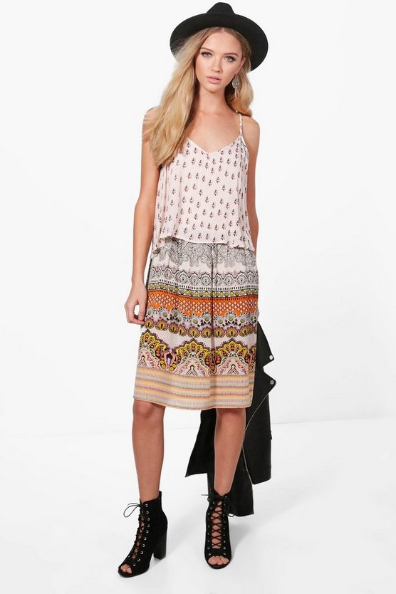 Poppy Double Layer Paisley Shift Dress
