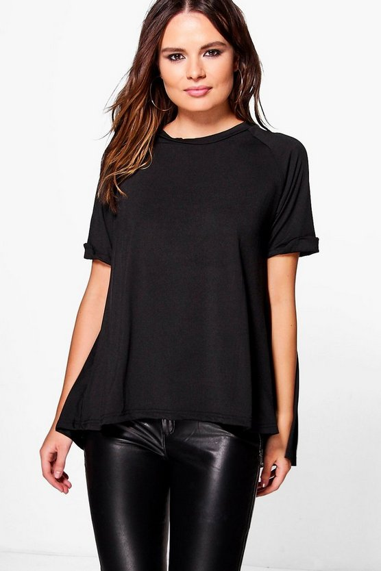 Womens Black Louise Short Sleeve Blouse