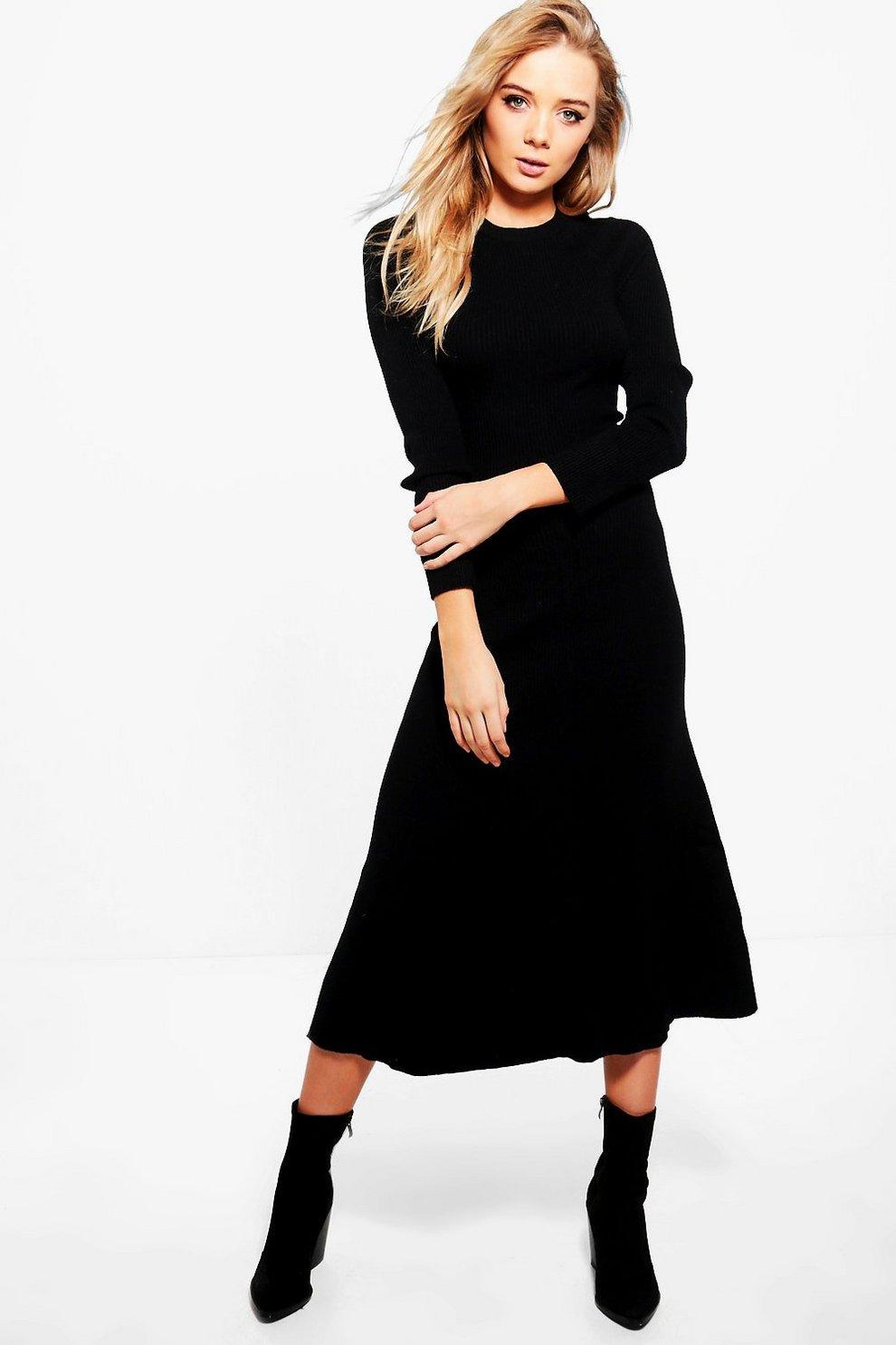 208aa14b Karina Rib Knit Maxi Dress | Boohoo