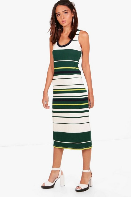 Reilly Stripe Midi Bodycon Dress