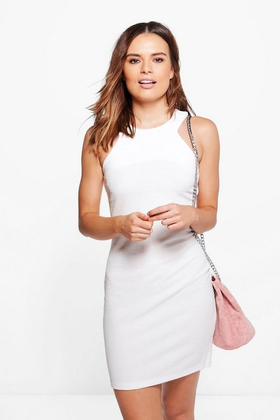 Avianna Racer Neck Bodycon Dress