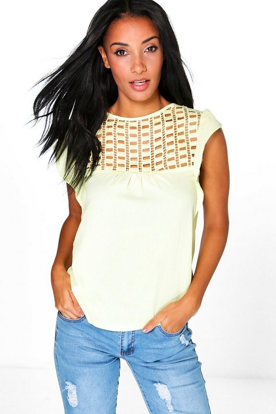 Scarlett Crochet Panel Top