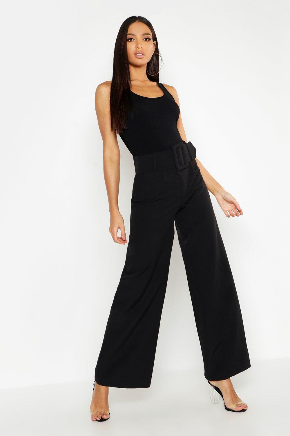 796a4eb3ae2a Super High Waisted Belted Wide Leg Pants. Hover to zoom