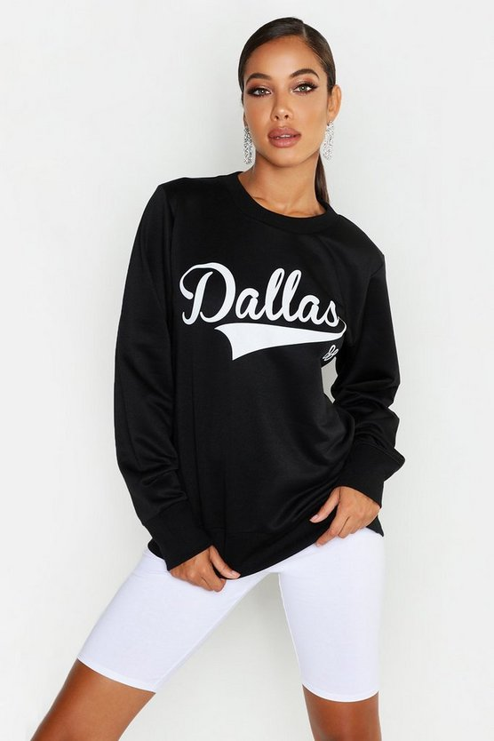 Dallas Crew Neck Slogan Sweat
