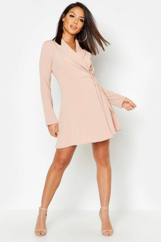 Side Tie Blazer Dress