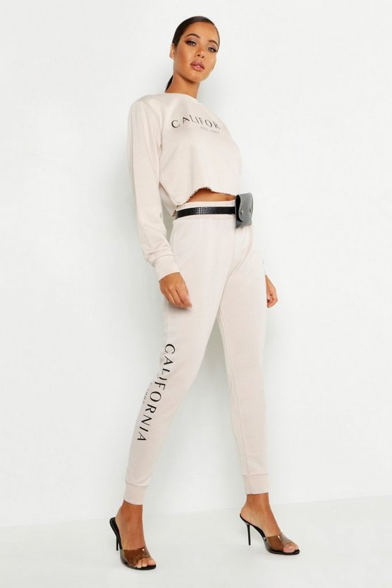 California Side Slogan Jogger