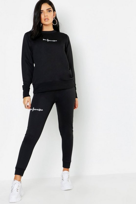 Womens Black San Francisco Jogger