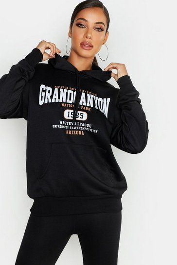 Black Grand Canyon Basic Hoodie