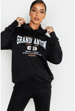 Basic Hoodie Grand Canyon, Schwarz, Damen