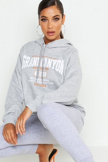 Grey Grand Canyon Basic Hoodie