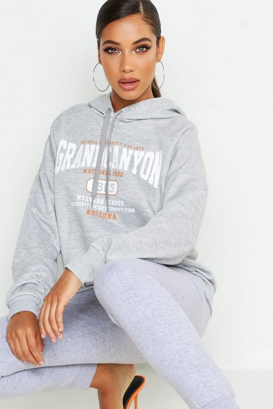 Basic Hoodie Grand Canyon, Grau, Damen