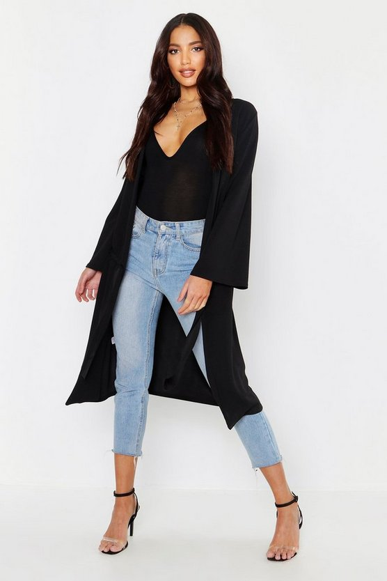 Ruched Duster Coat