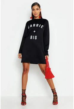 Womens Black Carrie + Big Slogan Sweat Dress
