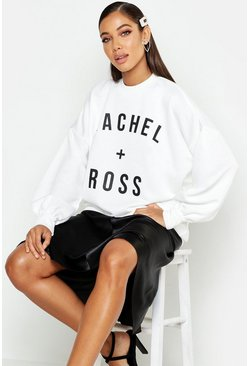 Womens White Ross + Rachel Slogan Sweatshirt