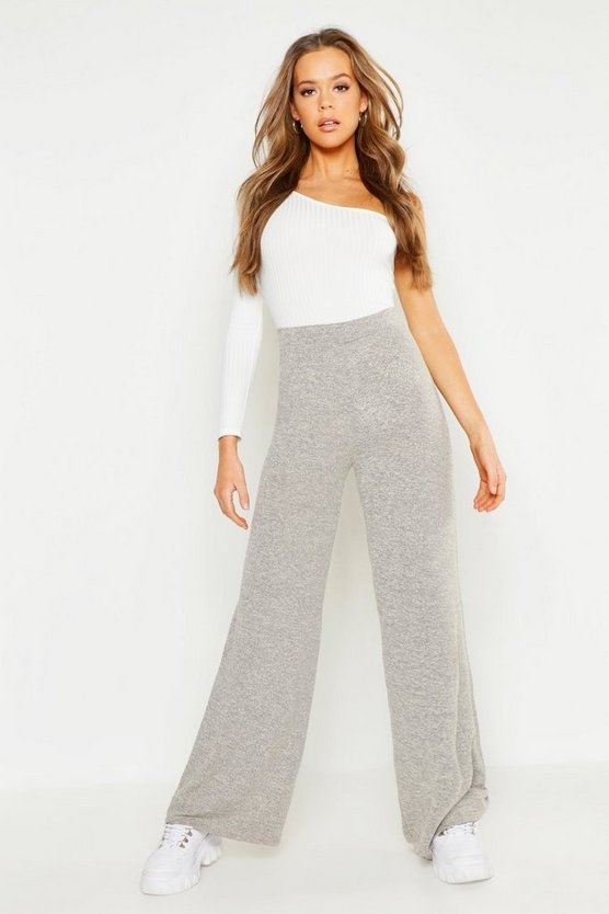 Womens Stone Cut and Sew Wide Leg Trouser