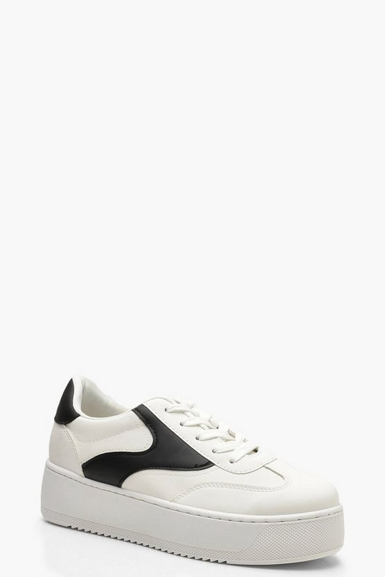 Lace Up Chunky Platform Trainers