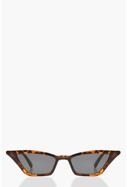 Occhiali da sole Point Cat Eye tartarugati, Marrone